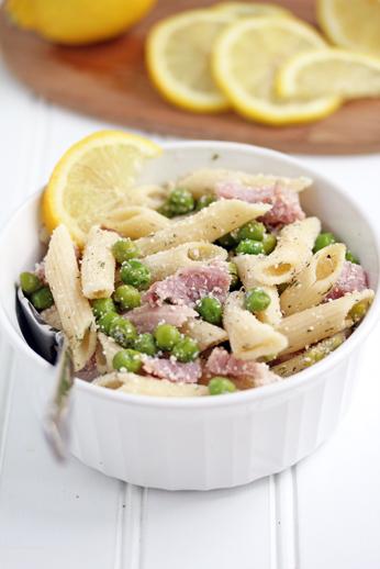 Lemon Pasta with Ham and Pe Lemon Pasta with Ham and Peas Recipe