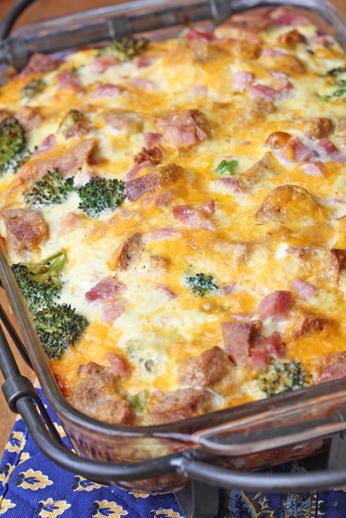one dish breakfast casserol Ham and Broccoli Breakfast Casserole with Extra Sharp Cheddar   $5 Dinner Challenge