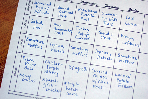 meal plan one dish dinners How To