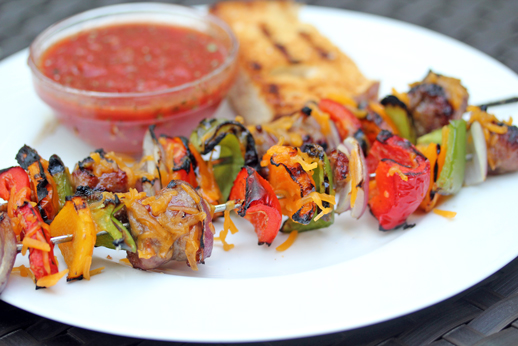 sausage pizza kebabs Sausage Pizza Kebabs Recipe