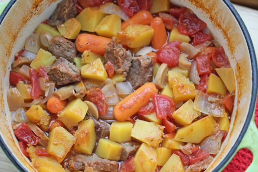 one dish beef stew with but Dutch Oven Beef Stew with Butternut Squash