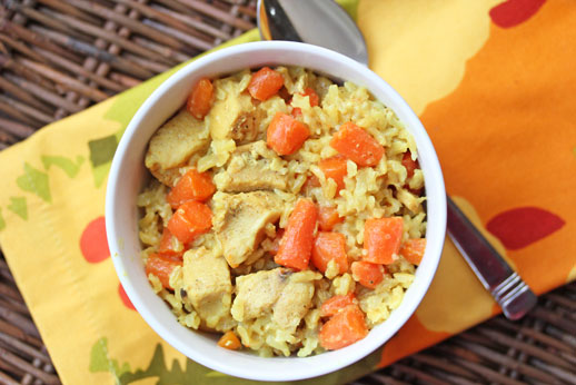 coconut rice and chicken Coconut Chicken and Rice with Carrots