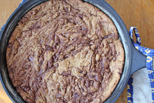 skillet cookie One Skillet Chocolate Chip Cookie