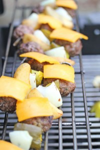 burger kebabs 200x300 Cheeseburger n Fries Kebabs